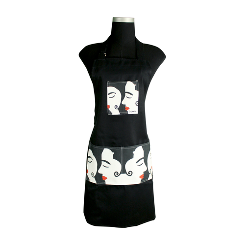 Black romantic Apron for cooking ideal for men and women