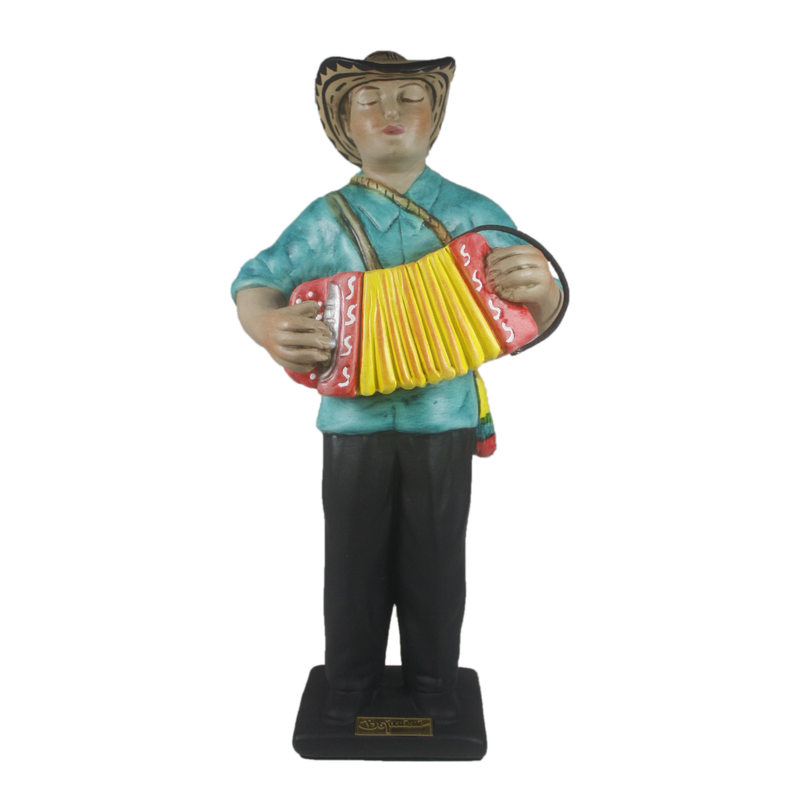 Ceramic Sculptures - Accordionist Figurine