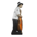 Black and White Bass Player Musical Statue as a perfect decorative accessory - Bojanini Store - Available Online