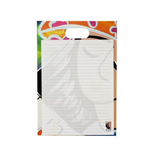 Writing pad with handle - musicians collection -girl with piano musical design - bojanini store