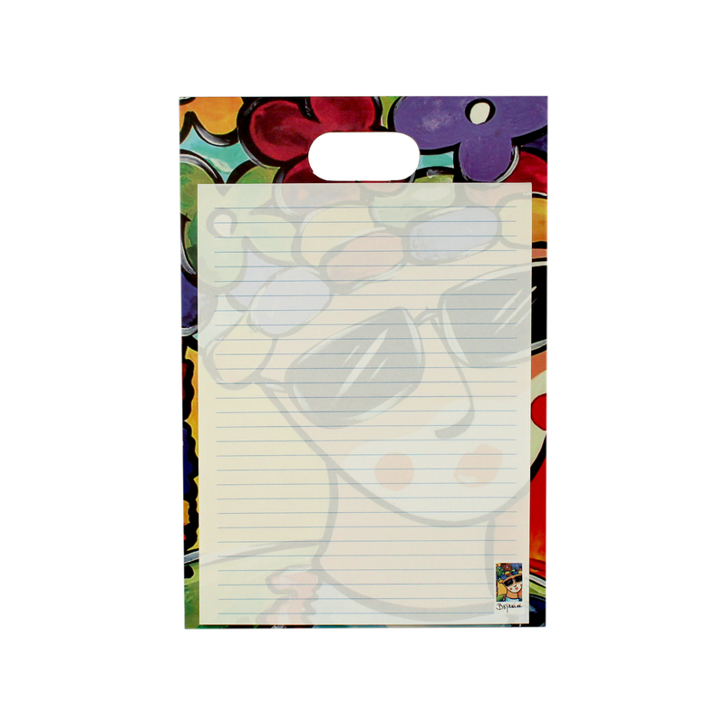 Writing pad with handle - carnival collection - el congo design - bojanini store