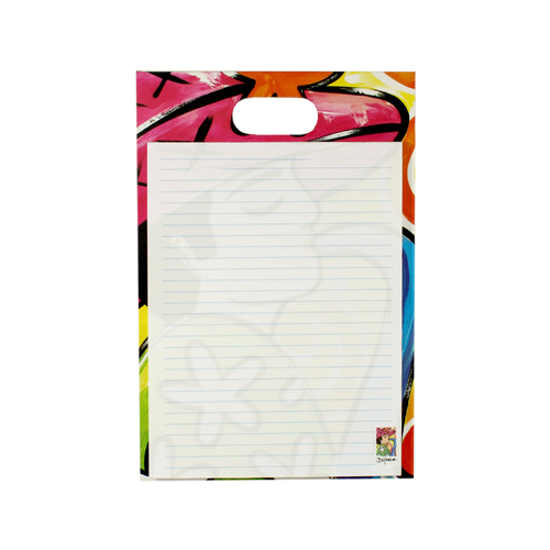 Writing pad with handle - musicians collection -  saxophonist musical design - bojanini store