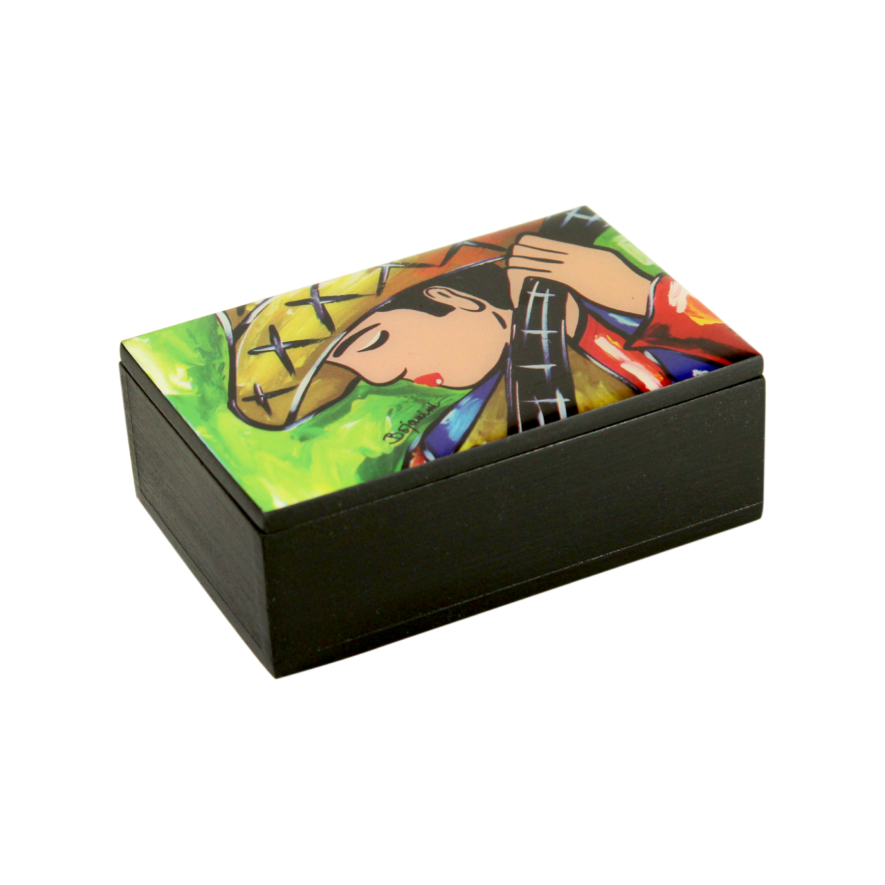 Melodious Business Card Holder | Office Wood Boxes | Bojanini Store