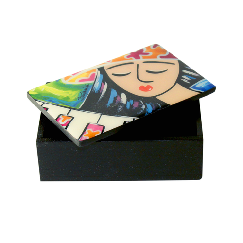 Bojanini - Business Card Box - Girl with Piano