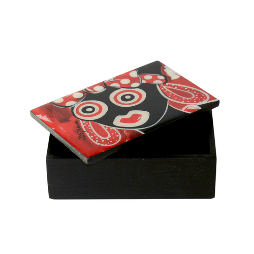 Business card ethnic wooden box available online