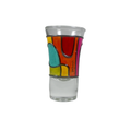 Colorful decorative shot glass