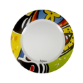 Colorful dinnner plate - carnival inspired el torito hand painted dinner plates - bojanini Store