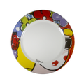 Colorful dinnner plate - carnival inspired el congo hand painted dinner plates - bojanini Store