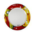 Colorful dinnner plate - carnival inspired la marimonda hand painted dinner plates - bojanini Store
