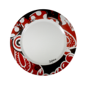 Colorful dinnner plate - carnival inspired la puloy hand painted dinner plates - bojanini Store