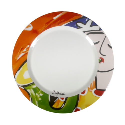 Colorful Dinnner plate - Music inspired Saxophonist hand painted dinner plates - Bojanini Store