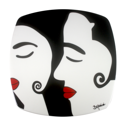 Dinner Plates - White and Black Sober Design - Ideal for a Romantic Evening - Buy Online