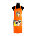 Orange carnival Apron for cooking ideal for men and women - congo