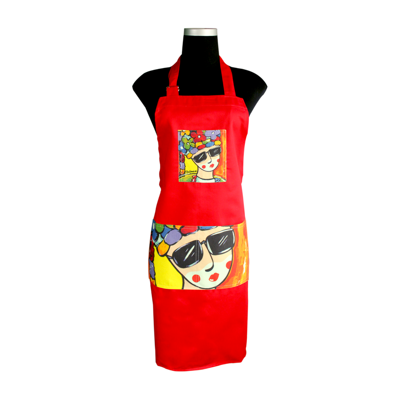 Red Carnival Apron for cooking ideal for men and women - el congo