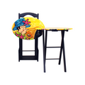 Oval Folding Snack table buy online Bojanini Store Musical Design