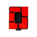Bojanini - Picture Frame - Small - Red Squares