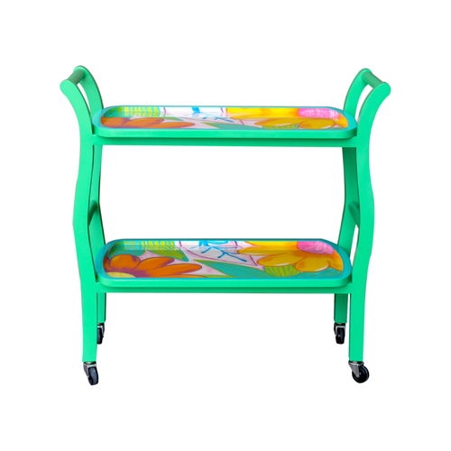 Home bar cart Bojanini´s Exclusive Tropical Flower Design