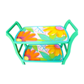 Bar Cart - Tropical Flowers