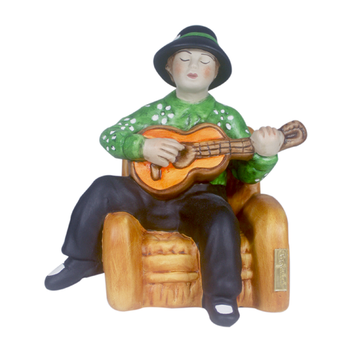 Green Guitarrist - Musical Statue as a perfect decorative accessory - Bojanini Store - Available Online
