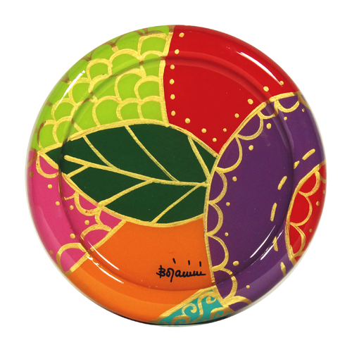 wooden wine coaster golden flora  design bojanini store