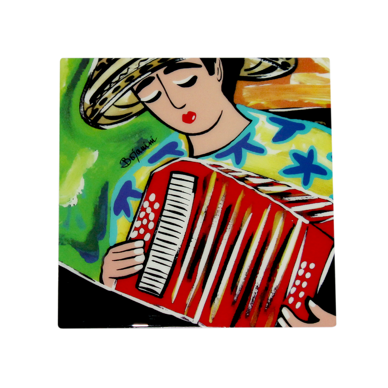 Bojanini - Serving Tray - Accordionist