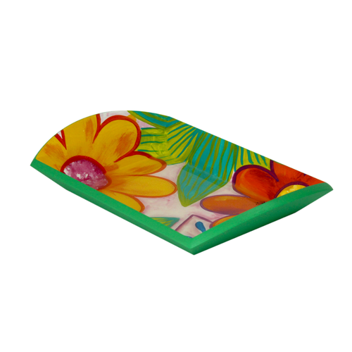 Bojanini - Bread Tray  S - Tropical Flower - Unique Piece