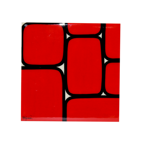 Bojanini - Serving Tray - Red Squares