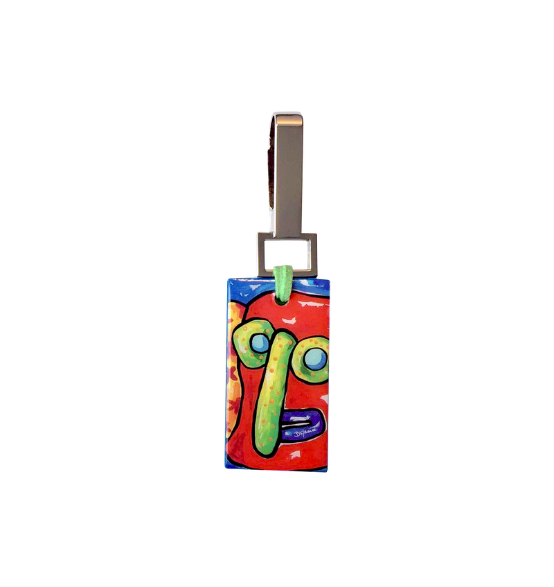artistic rectangular keychain for woman or man with sophisticated taste available online
