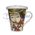Painted Cool Coffee mugs with lid Flauta e Millo design buy online