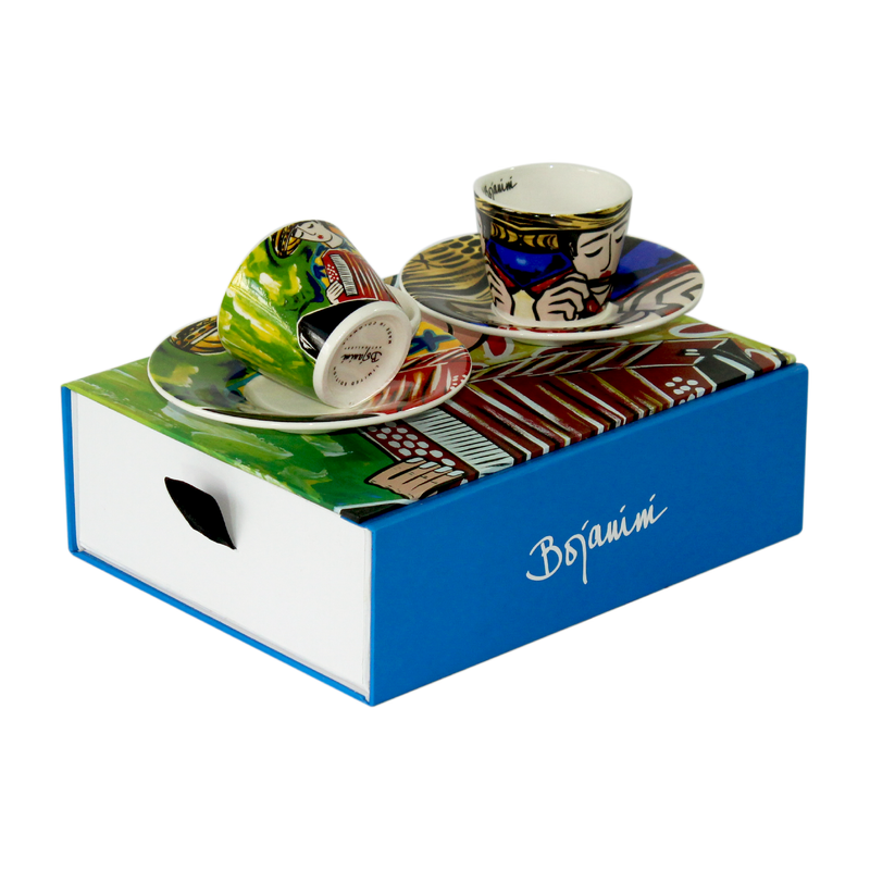Typical Colombia´s musician inspired espresso set available online