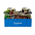 Native Colombian Musicians inspired folkloric espresso set of 4 cups available online