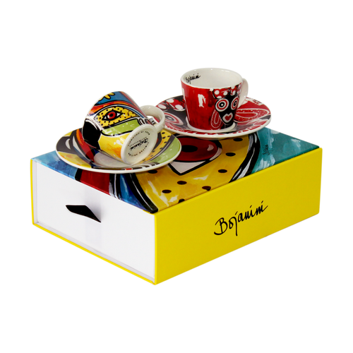 Carnival inspired multicolor  espresso set of 2 cups available online