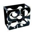 Finished Arabesque classy and elegant Black and White hand painted Wine Rack
