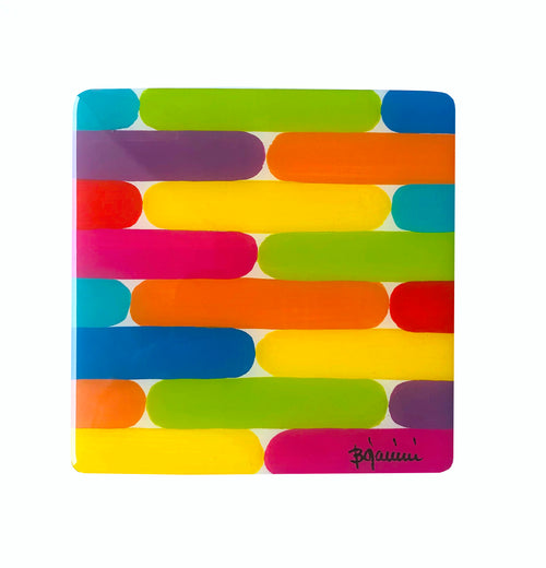 Bojanini Coasters set of 6  -Brushstrokes