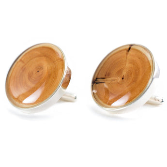 tree ring wood cuff links