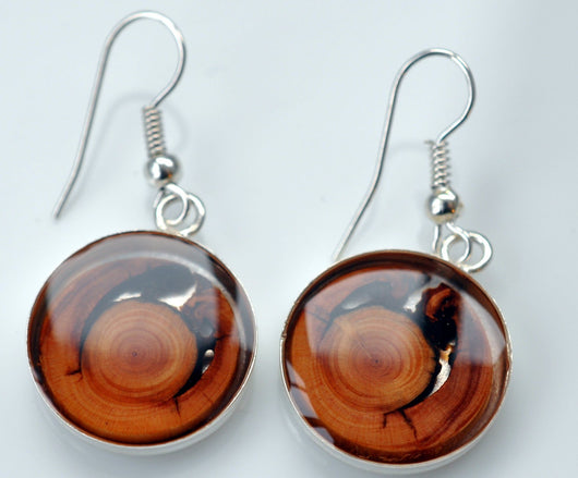 Tree Ring Fire Earrings