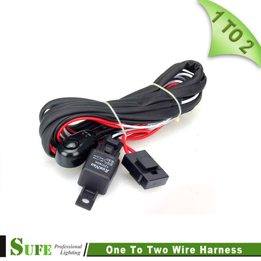 SUFE High quality 2 To 1 LED wrok light relay wire harness 3 Metter Band Clamps Auto Wire Harness on wire loom clamps, tube clamps, seat clamps, hardware clamps, wire cage clamps, wire cable clamps plastic, headlight clamps, wire connector clamps, coil clamps, wire hook clamps, fuse clamps, wire panel clamps, door clamps, wire bundle wrap, single wire clamps, wire cable ties, wire rope clamps, wire ring clamps, wire filter clamps, automotive wire clamps,