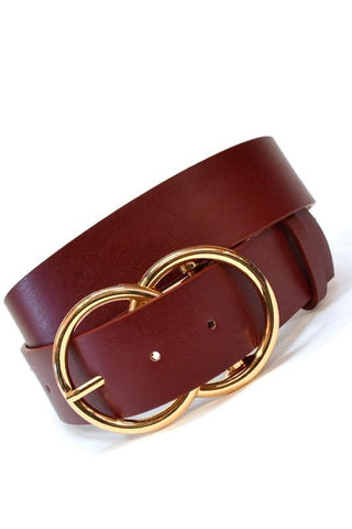 Double Ring Belt Burgundy