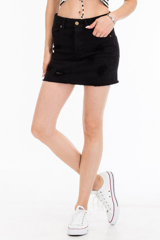 Basic Black Denim Mini