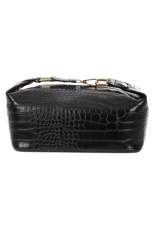Faux Croc Cross-Body