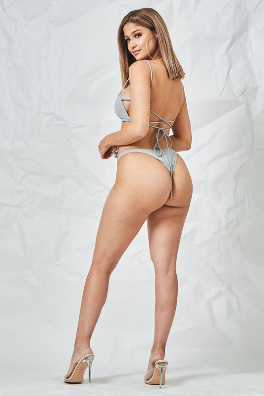 Thong Bottom Grey