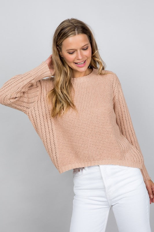 Sheer Pointelle Sweater