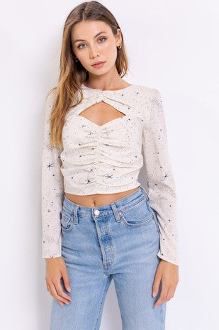 Shirred Star Blouse