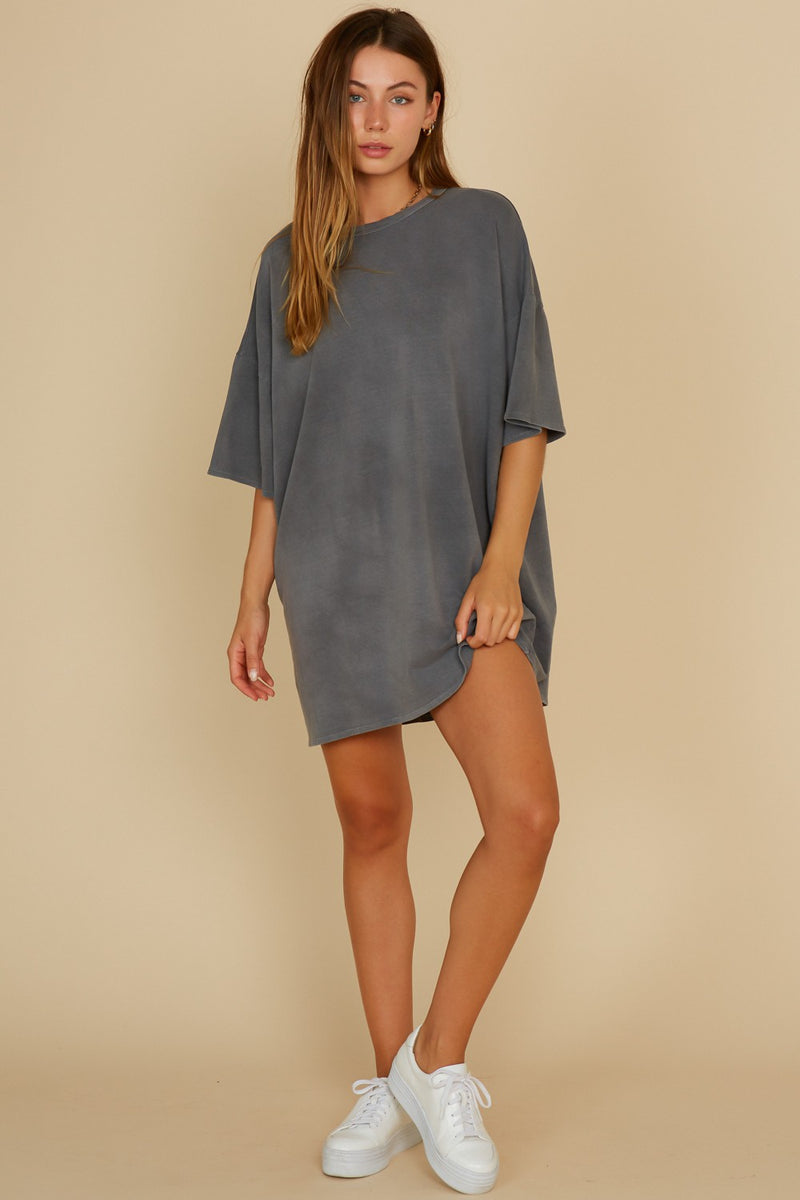 Washed T-Shirt Dress