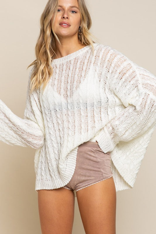 Twisted Lightweight Sweater