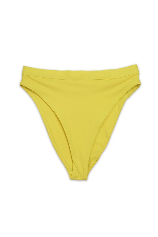 Hi-Waist Swim Bottom Yellow