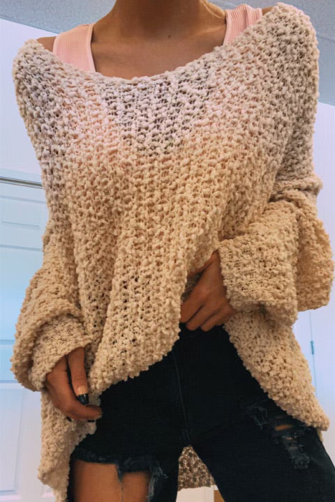 Textured V Sweater