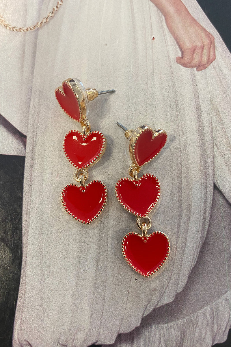 Layered Heart Earrings