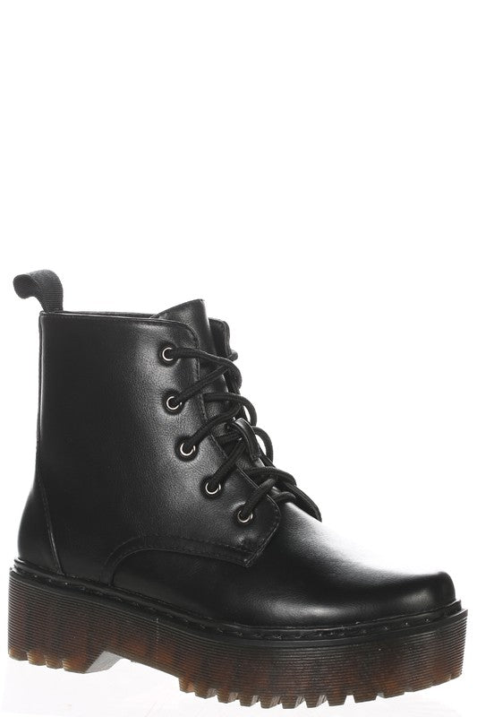 Rika Combat Boot Black