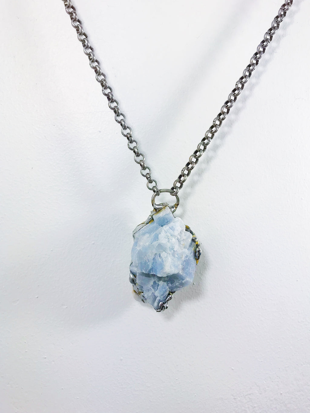 Large Calcite Pendant Necklace